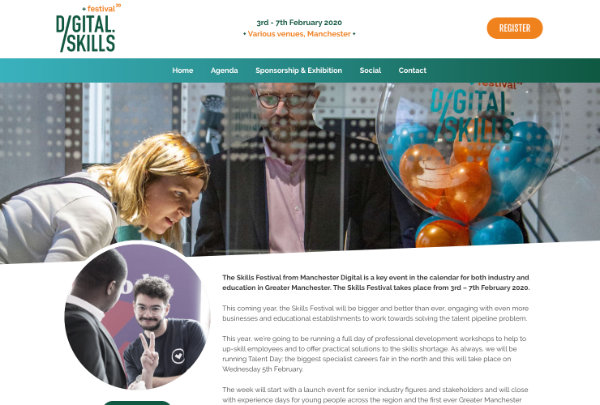 bespoke website design and build for a digital festival