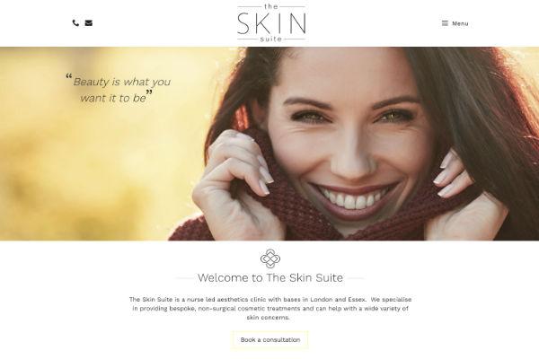 startup website for aesthetics clinic