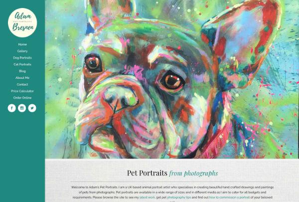 artist website design and build