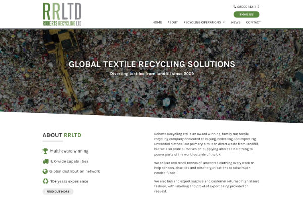 recycling business website design and build
