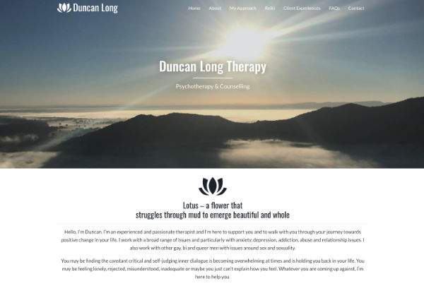 therapist website design and build