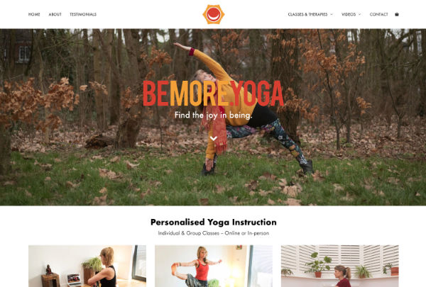 web design for a yoga instructor
